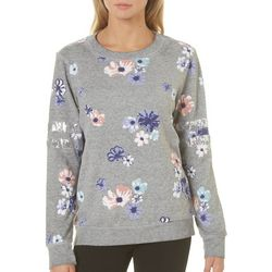Miss Chievous Juniors Embellished Floral Sweatshirt