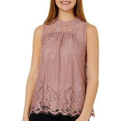 Miss Chievous Juniors Sleeveless Lace Top