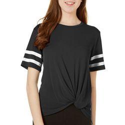 Miss Chievous Juniors Varsity Knot Front Varsity T-Shirt