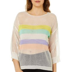 Honey & T Juniors Rainbow Stripe Sweater