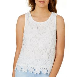 Ultra Pink Juniors Daisy Lace Sleeveless Top