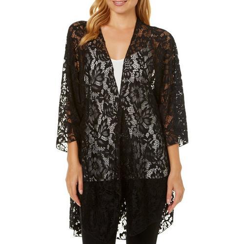 df0c971b5d Violet Moon Juniors Floral Lace Short Sleeve Kimono | Bealls Florida
