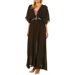 Hyfve Juniors Floral Lace Kimono Maxi Dress
