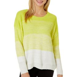 No Comment Juniors Knit Ombre Long Sleeve Sweater