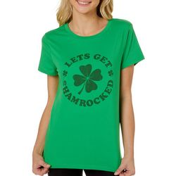 No Comment Juniors Let's Get Shamrocked Short Sleeve Top