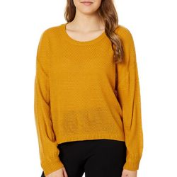 No Comment Juniors Cropped Knit Sweater