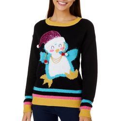 Derek Heart Juniors Sequin Embellished Penguin Sweater
