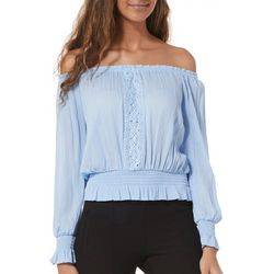 Derek Heart Juniors Crochet Off The Shoulder Top