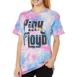 Pink Floyd Juniors Screen Print Tie Dye T-Shirt By Hybrid