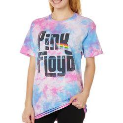 Pink Floyd Juniors Screen Print Tie Dye T-Shirt By Hybrid