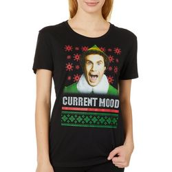 Elf Juniors Current Mood Screen Print T-Shirt By Hybrid