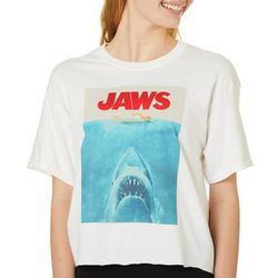 Jaws Juniors Screen Print Logo Cropped T-Shirt By Hybrid