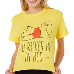 Disney Juniors I'd Rather Be In Bed T-Shirt By Hybrid