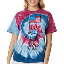 Peanuts Juniors Americana Tie Dye T-Shirt By Hybrid