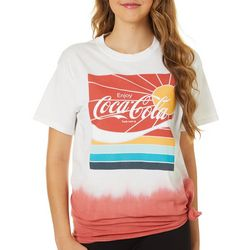 Coca-Cola Juniors Logo Dip Dye T-Shirt By Hybrid