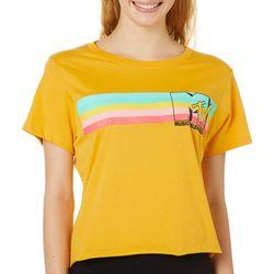 MTV Juniors Screen Print Logo Cropped T-Shirt By Hybrid