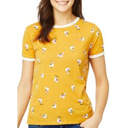 Wallflower Juniors Llama Ringer T-Shirt