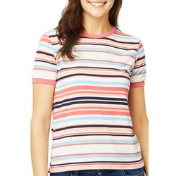 Wallflower Juniors Striped Ringer T-Shirt