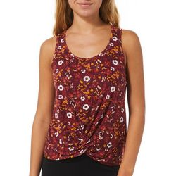 Wallflower Juniors Floral Twist Front Sleeveless Top
