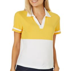 Almost Famous Juniors Colorblock Athletic Striped Top