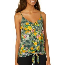 Almost Famous Juniors Tropical Print Sleeveless Top
