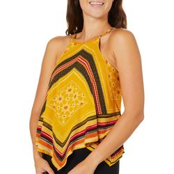 Taylor & Sage Juniors Geometric Hanky Sleeveless Top