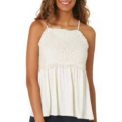 Taylor & Sage Juniors Crochet Empire Tank Top