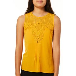 Taylor & Sage Juniors Crochet Sleeveless Top