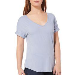 Pink Rose Juniors Roll Hem Short Sleeve T-Shirt