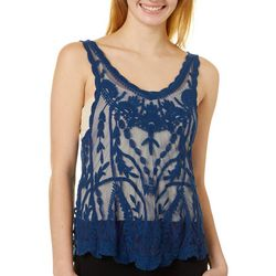 Angie Juniors Mesh Lace Tank Top