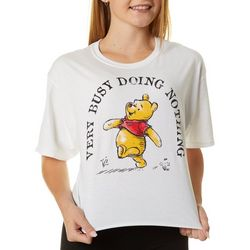 Modern Lux Juniors Winnie-The-Pooh Cropped T-Shirt