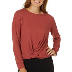 Be Bop Juniors Solid Waffle Textured Twist Front Top