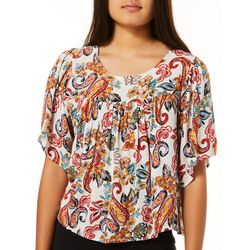 Be Bop Juniors Cropped Floral Flowy Top