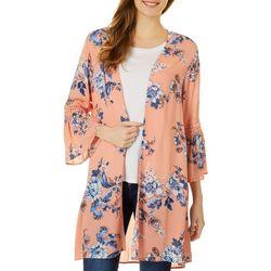 Be Bop Juniors Floral Print Kimono