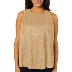 Roommates Juniors Solid Sequin Glitz Sleeveless Top