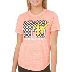 MTV Juniors Burnout Graphic T-Shirt