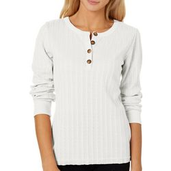 Unionbay Juniors Greata Solid Cable Henley Top