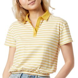 Unionbay Juniors Striped Cropped Polo Top