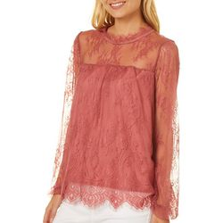 Taylor & Sage Juniors Victorian Lace Top