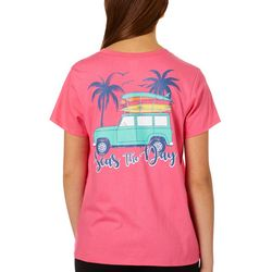 Messy Buns, Lazy Days Juniors Seas The Day T-Shirt