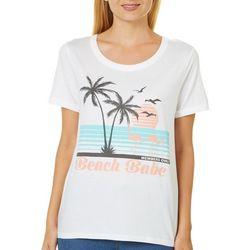 Messy Buns, Lazy Days Juniors Beach Babe T-Shirt