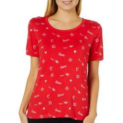 Messy Buns, Lazy Days Juniors XO Love T-Shirt