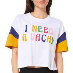 Messy Buns, Lazy Days Juniors I Need A Vacay T-Shirt