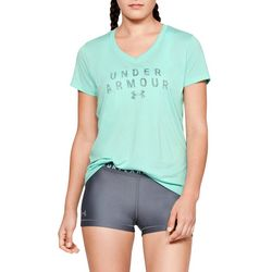 Under Armour Womens Tech Heathered Logo Graphic T-Shirt