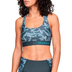 Under Armour Womens Camo Print Crossback Mid Sports Bra