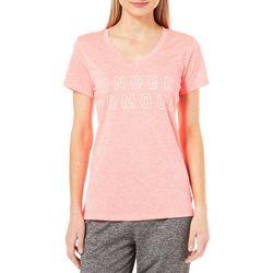 Under Armour Womens Tech Graphic Twist V-Neck T-Shirt