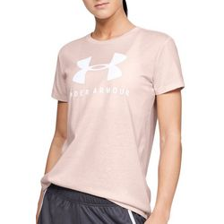 Under Armour Womens Logo Graphic Crew Neck T-Shirt