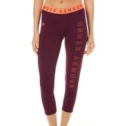 Under Armour Womens Favorite Logo Graphic Crop Leggings