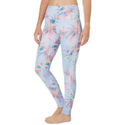 Brisas Womens Elite Photo Real Palm Print Capri Leggings