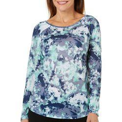 Brisas Womens Blossom Brushstroke Print Long Sleeve Top